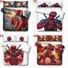 Deadpool Single/Double/Queen/King Bed Duvet Quilt Doona Cover Set Pillowcase