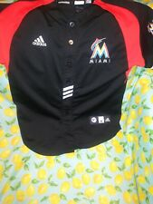 Giancarlo Stanton Florida Marlins Baseball Jersey Adidas Size Youth M 10-12