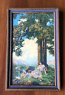 Maxfield Parrish Hilltop All Original 11x7 Nice for Small Apartments and Lofts