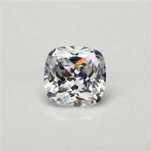 50pcs 5x5~15x15mm Cushion White loose cz stone cubic zirconia Synthetic gemstone