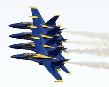 U.S. NAVY BLUE ANGELS FLYING IN FORMATION 8x10 SILVER HALIDE PHOTO PRINT