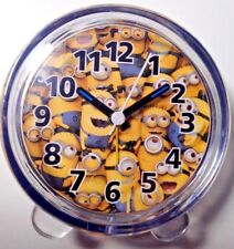 Despicable ME Minions Acrylic Alarm Clock w/Analog Display Battery Operated New