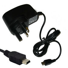UK 3 Pin Mini USB Mains Wall Home Travel Charger For Sonica M1 Dual Sim Black