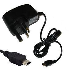 Mains Reino Unido 3 Pin Mini USB pared Home viaje cargador para Sonica M1 Dual SIM Negro