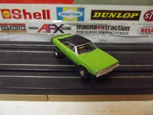 AUTOWORLD THUNDERJET GREEN-BLACK DODGE CHARGER R/T  W/OPEN RIVET CHASSIS MINT!
