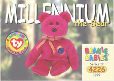 Ty Beanie Babies Bboc Card - Series 2 Common - Millennium the Bear - Nm/Mint