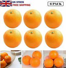6pcs Artificial Oranges Plastic Faux Fake Fruit Oranges Home Kitchen Decor