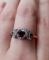 Exquisite Women 925 Silver 1.15ct Ruby Eternity Ring Wedding Jewelry Size 5-11