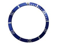 BEZEL INSERT FOR ROLEX SUBMARINER GMT WATCH BLUE SILVER CASES 16700 16710 16760