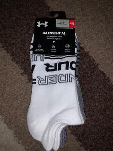 New Under Armour Womens 6PK Essential 2.0 No Show Socks 1332943 6-9
