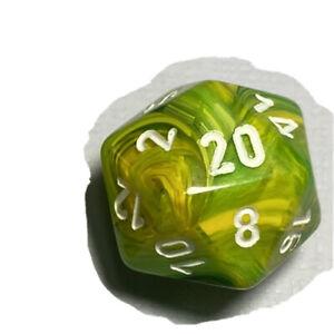 Chessex Vortex Dandelion D20
