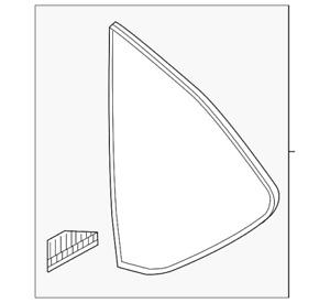 2017 - 2020 Mazda CX-5 - Driver / Left Quarter Glass - KB7W-63-950A