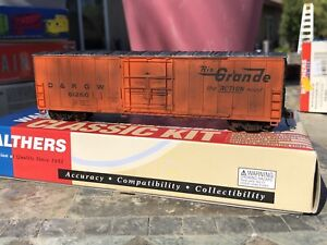 Walthers HO 50' FGE Insulated Boxcar, DRGW Rio Grande weathered