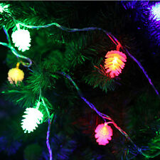 """20-LED Battery Operated Pine Cone String Fairy Lights Xmas Wedding Decor 86"""" SD"""