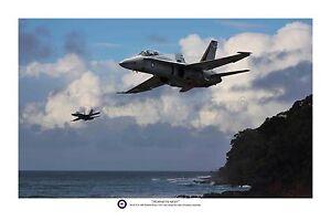 "RAAF McDonnell Douglas F/A-18 Hornet Aviation Art Photo Print - 12"" X 18"""