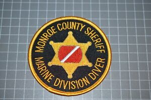 Monroe County Michigan Sheriff Marine Division Diver Patch (B17-A21)