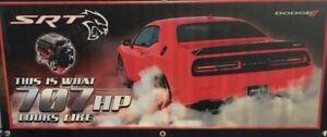 "DODGE Challenger Hellcat Vinyl Banner  20""x50"" Red. What 707 HP Looks Like NHRA"