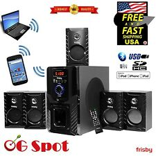 Bluetooth Wireless 5.1 CH Surround Sound Home Theater Speaker System HQ Bass
