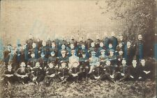 More details for 1907 edwardian group photo appear army pay corps soldiers and civ staff unposted
