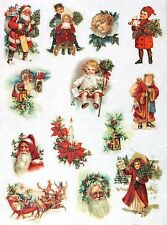Rice Paper for Decoupage Decopatch Scrapbook Craft Sheet Vintage Christmas Santa