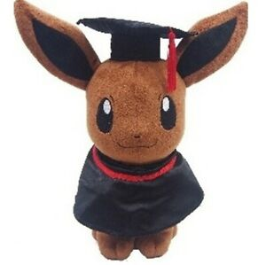 "14""Pokemon Pikachu Eevee Graduation Beanbag Plush Figure Stuffed Animal Toy Doll"