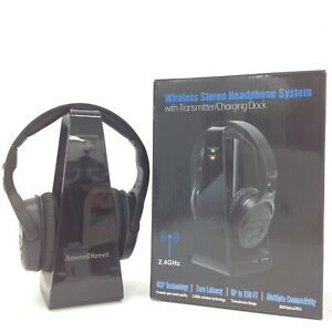 New Ansee Direct Wireless Stereo Headphone System Charging Dock 2.4GHZ 303336