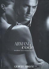 Giorgio Armani Armani Code Fragrance 2007 Double Sided Magazine Advert #1514