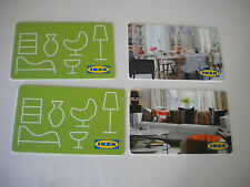 Lotto 4 schede carte regalo IKEA varie come da foto