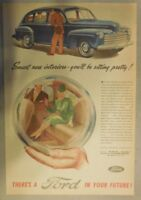 Ford Car Ad: Smart New Interiors, Sit Pretty ! from 1946 Size: 11 x 15 inches