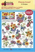 Amazing Designs CD Flowery Crewel MultiFormatted Brand New Sealed ADL-35