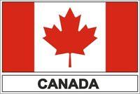 Sticker adesivi adesivo bandiera CDN canada