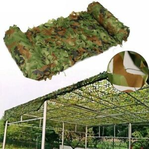 Camouflage Netting Camo Net Woodland for Military Sunshade Camping Hunter 3mx3m