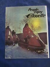 Vintage 1971 Alouette Snowmobile Sales Brochure Advertising