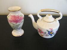 Pair of Hammersley China Miniatures Teapot Vase