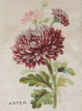 Vintage antique silk applique - use in crazy quilt block - aster flower Zira