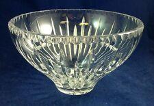 "Ceska PRAGUE Round Bowl Crystal 8.5"" diameter GREAT CONDITION"