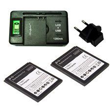 2 x batterie 1700mah  + chargeur & EU  pour Samsung Galaxy S3 mini i8190  BT2+C
