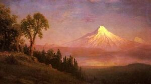 """Wonderful Oil painting view Mount St. Helens Columbia River Oregon canvas 36"""""""