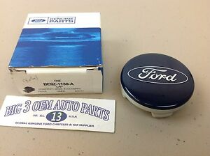 Ford Fusion Focus Escape Fiesta CMax Wheel small Blue Center Cap oval logo OEM