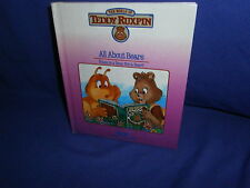 Vintage All About Bears Teddy Ruxpin Worlds of Wonder Book Only 1985