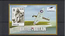 Gibraltar 2010 MNH Battle of Britain 70th Anniv 1v S/S Douglas Bader Spitfire