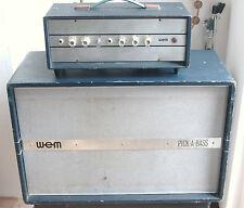 "WEM Watkins 1963 Wem ""Pick-a-Bass"" 15 W Válvula Amplificador y altavoz Azul Oscuro"