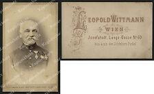 or. Foto Leopold Wittmann K.u.K Kaiserjäger Hauptmann Orden Wien Josefstadt 1885