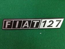 FIAT 127 PLASTIC BADGE  SCRITTA EMBLEM NOS CLIP TYPE A
