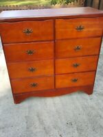 """1970'S 8 Drawer Chest  size 38""""×16,5""""×37"""" """"LOCAL PICK UP ONLY"""""""