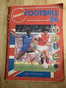Panini Football 86 Vintage Sticker Album 98 Stickers Needed