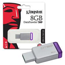 8GB Kingston Data Traveler DT50 USB 3.0 Flash Drive Pen Memory Stick Music MP3