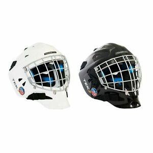 Powertek V3.0 Hockey Goalie Helmet! Goal Cage Face Mask CSA Approved Black White