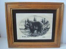 Vintage 1979 Bear Alaskan Mint Marble Etching Kiana Bill Devine Limited Series