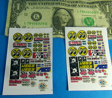 HO 1:87 Slot Car WHITE STICKERS (NOT DECALS),CUT & PEEL BUILDING CAR MOON HOLLEY
